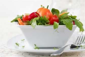 Delicious diet salad with lot of vitamins
