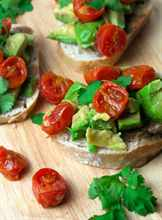 диетический бутерброд с томатами
