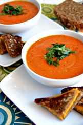 Суп из томатов с зеленью