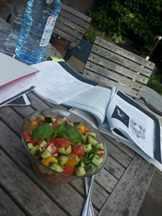 салат на улице