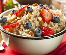 Healthy Homemade Oatmeal With Berries