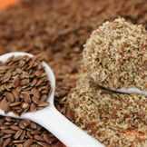Молотые семена льна