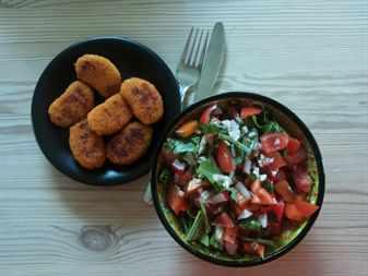 овощи на пару, салат