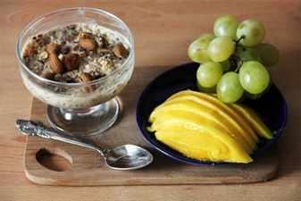 фрукты и орешки