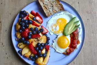 завтрак с яйцами