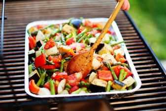 запеченные овощи на гриле