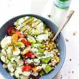 запеченный стейк с овощами