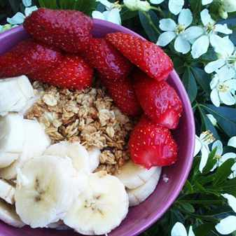 отруби с фруктами