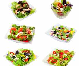 assorti of salads